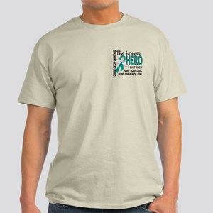 Bravest Hero I Knew Ovarian Cancer Light T-Shirt