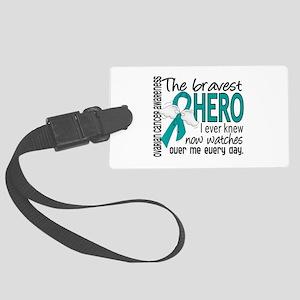 Bravest Hero I Knew Ovarian Cancer Large Luggage T