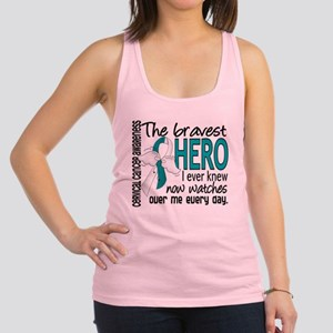 Bravest Hero I Knew Cervical Cancer Racerback Tank