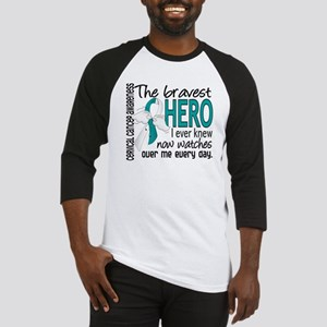 Bravest Hero I Knew Cervical Cancer Baseball Jerse