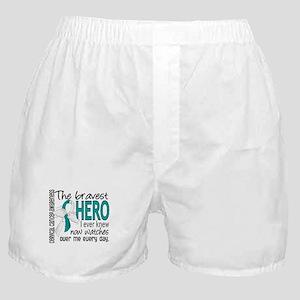 Bravest Hero I Knew Cervical Cancer Boxer Shorts