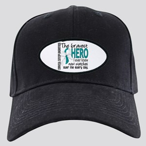 Bravest Hero I Knew Cervical Cancer Black Cap