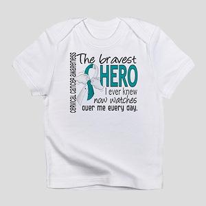 Bravest Hero I Knew Cervical Cancer Infant T-Shirt