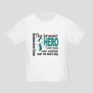 Bravest Hero I Knew Cervical Cancer Toddler T-Shir