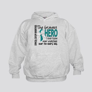 Bravest Hero I Knew Cervical Cancer Kids Hoodie
