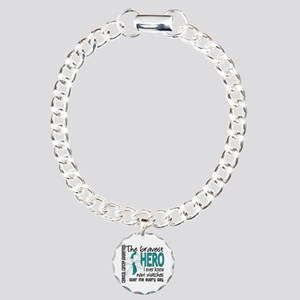 Bravest Hero I Knew Cervical Cancer Charm Bracelet