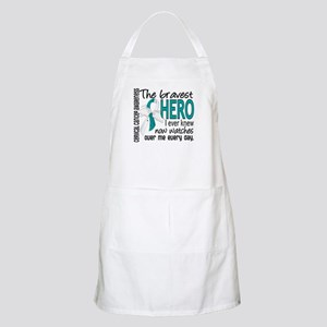 Bravest Hero I Knew Cervical Cancer Apron