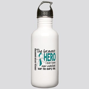Bravest Hero I Knew Cervical Cancer Stainless Wate