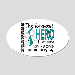 Bravest Hero I Knew Cervical Cancer 20x12 Oval Wal