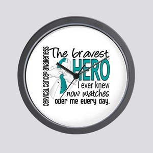 Bravest Hero I Knew Cervical Cancer Wall Clock