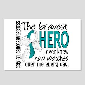Bravest Hero I Knew Cervical Cancer Postcards (Pac