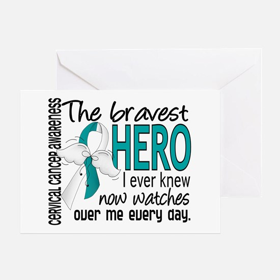 Bravest Hero I Knew Cervical Cancer Greeting Card