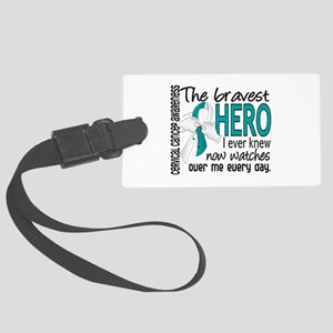 Bravest Hero I Knew Cervical Cancer Large Luggage