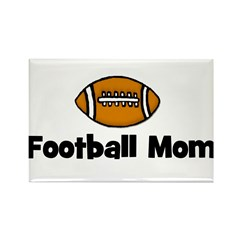Football Mom Rectangle Magnet