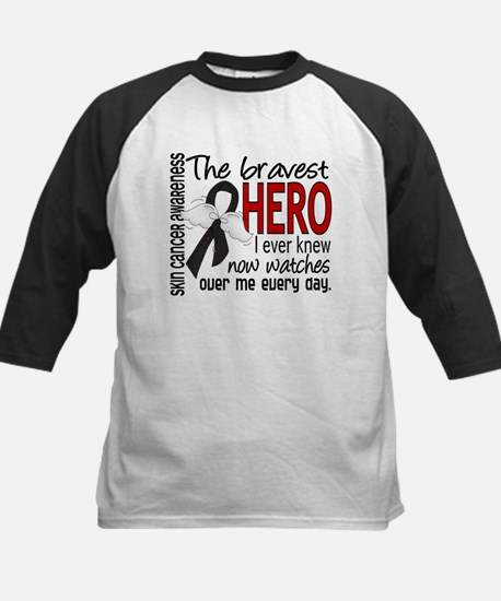 Bravest Hero I Knew Skin Cancer Kids Baseball Jers