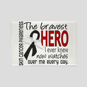Bravest Hero I Knew Skin Cancer Rectangle Magnet