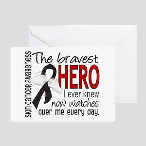 Bravest Hero I Knew Skin Cancer Greeting Card