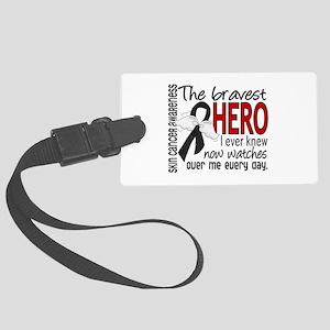 Bravest Hero I Knew Skin Cancer Large Luggage Tag