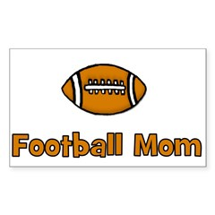 Football Mom Rectangle Decal