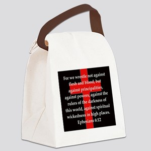 Ephesians 6-12 Canvas Lunch Bag
