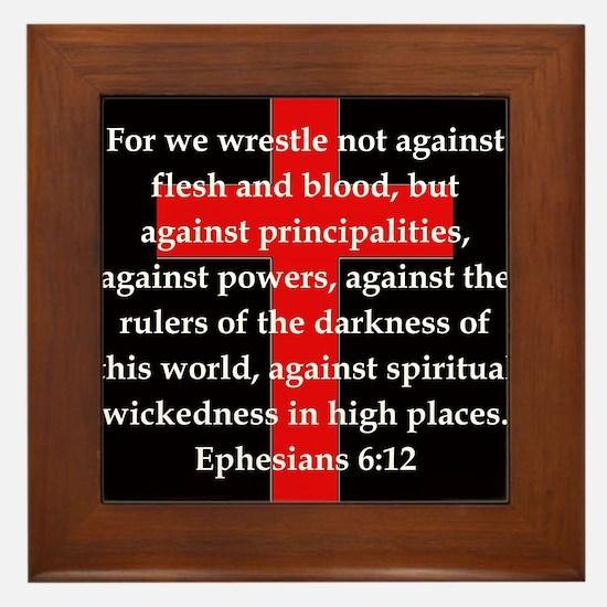 Ephesians 6-12 Framed Tile