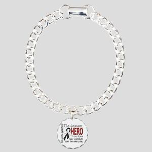 Bravest Hero I Knew Melanoma Charm Bracelet, One C