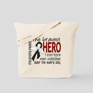 Bravest Hero I Knew Melanoma Tote Bag