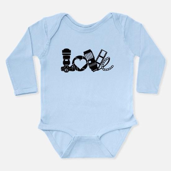 Camera Love Long Sleeve Infant Bodysuit