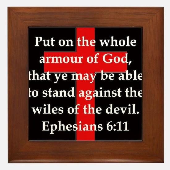 Ephesians 6-11 Framed Tile