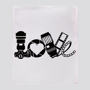 Camera Love Throw Blanket
