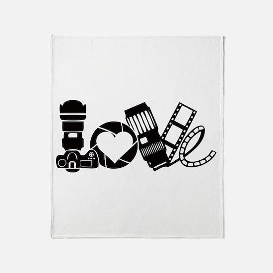 Camera Love Throw Blanket