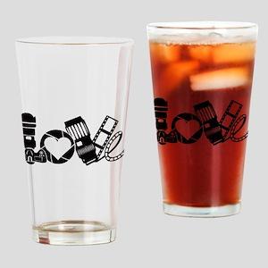 Camera Love Drinking Glass