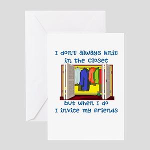 closetknitter Greeting Cards