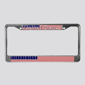 Old Glory US Flag License Plate Frame