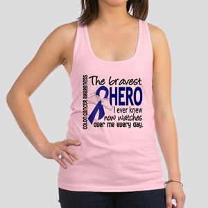 Bravest Hero I Knew Colon Cancer Racerback Tank To