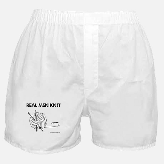 Real Men Knit Boxer Shorts