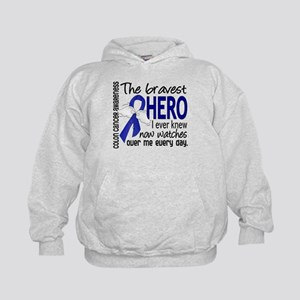 Bravest Hero I Knew Colon Cancer Kids Hoodie