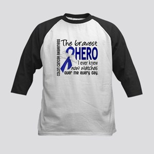Bravest Hero I Knew Colon Cancer Kids Baseball Jer
