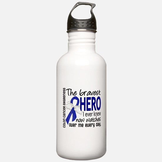 Bravest Hero I Knew Colon Cancer Water Bottle