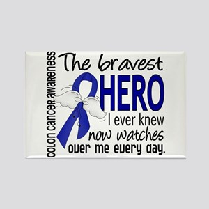 Bravest Hero I Knew Colon Cancer Rectangle Magnet