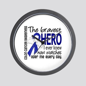 Bravest Hero I Knew Colon Cancer Wall Clock
