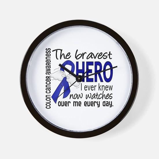Bravest Hero I Knew Colon Cancer Wall Clock