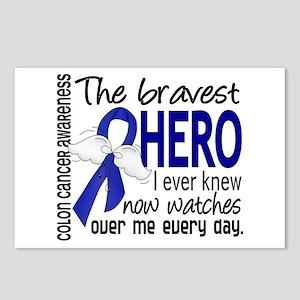 Bravest Hero I Knew Colon Cancer Postcards (Packag