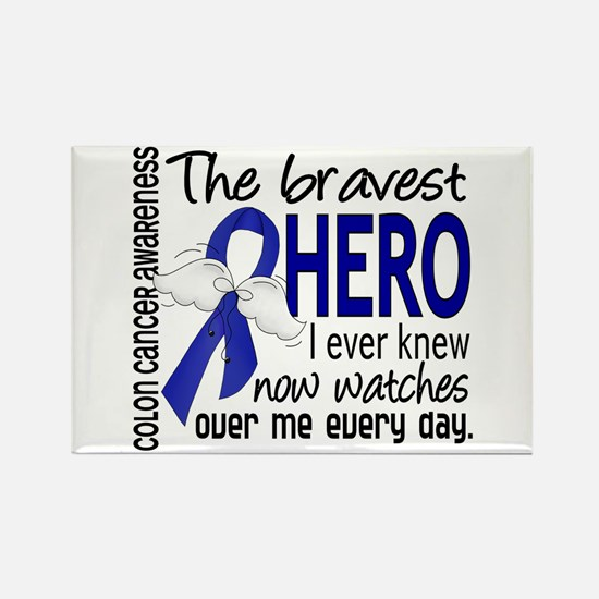 Bravest Hero I Knew Colon Cancer Rectangle Magnet
