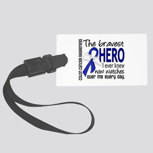 Bravest Hero I Knew Colon Cancer Large Luggage Tag