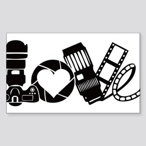 Camera Love Sticker (Rectangle)