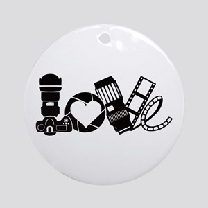 Camera Love Round Ornament