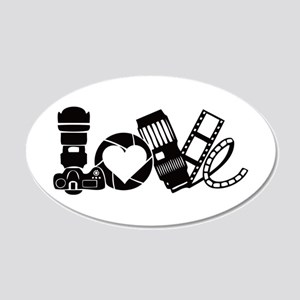Camera Love 20x12 Oval Wall Decal
