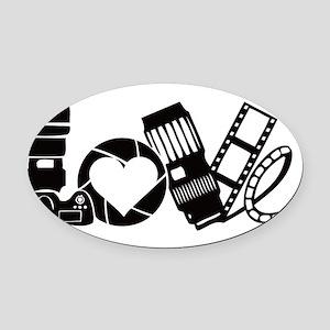 Camera Love Oval Car Magnet