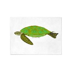 Green Sea Turtle 5'x7'Area Rug